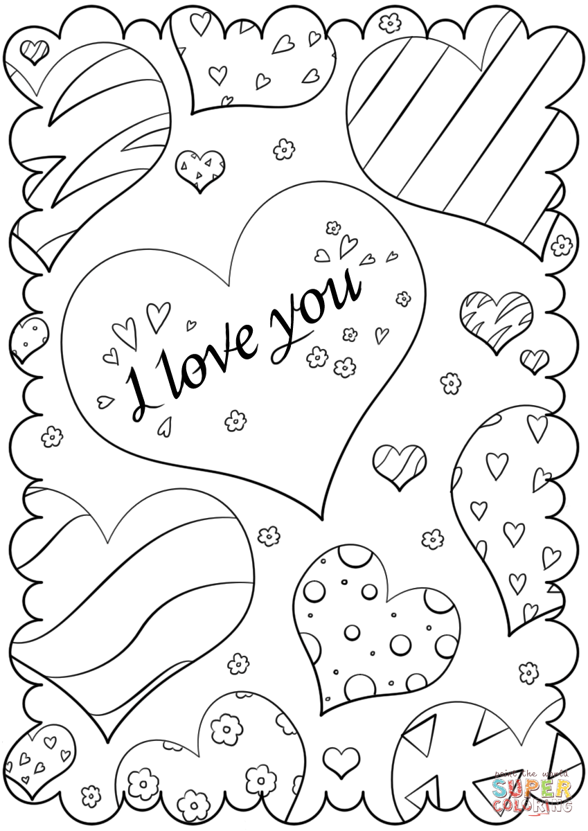 Valentine Cards To Print And Color