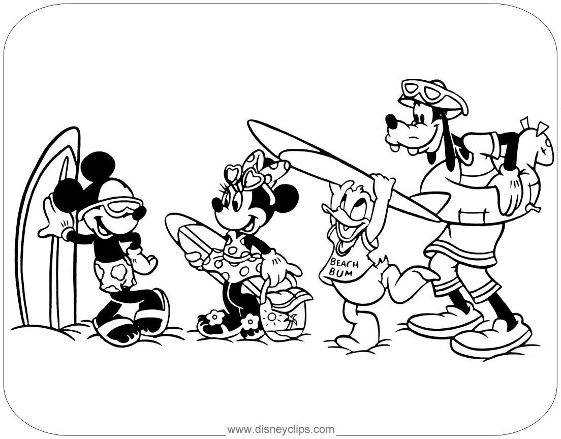 Baby Mickey Mouse And Friends Coloring Pages