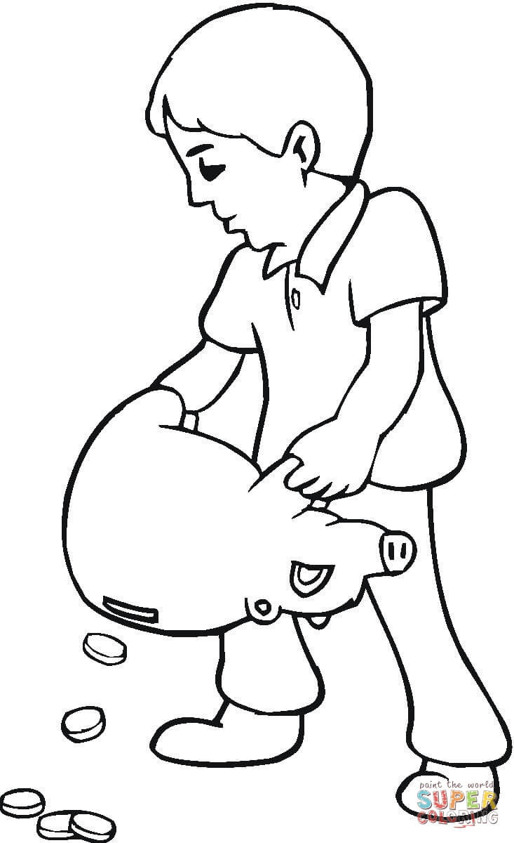 Saving Money Coloring Pages