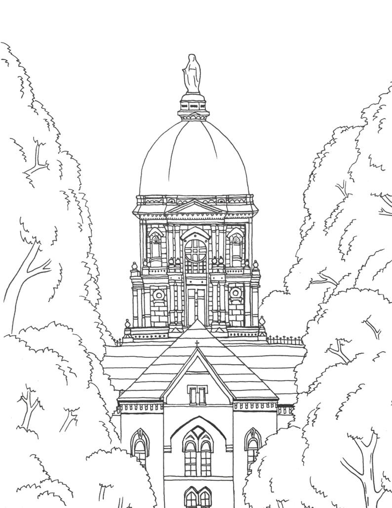 Notre Dame Fighting Irish Coloring Pages