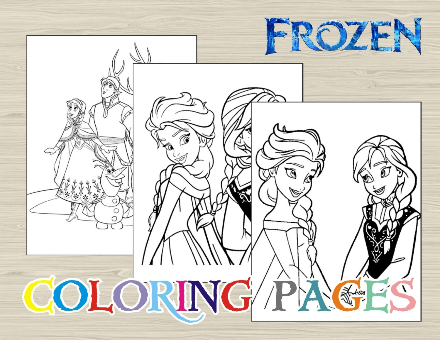 Frozen Coloring Book Pages