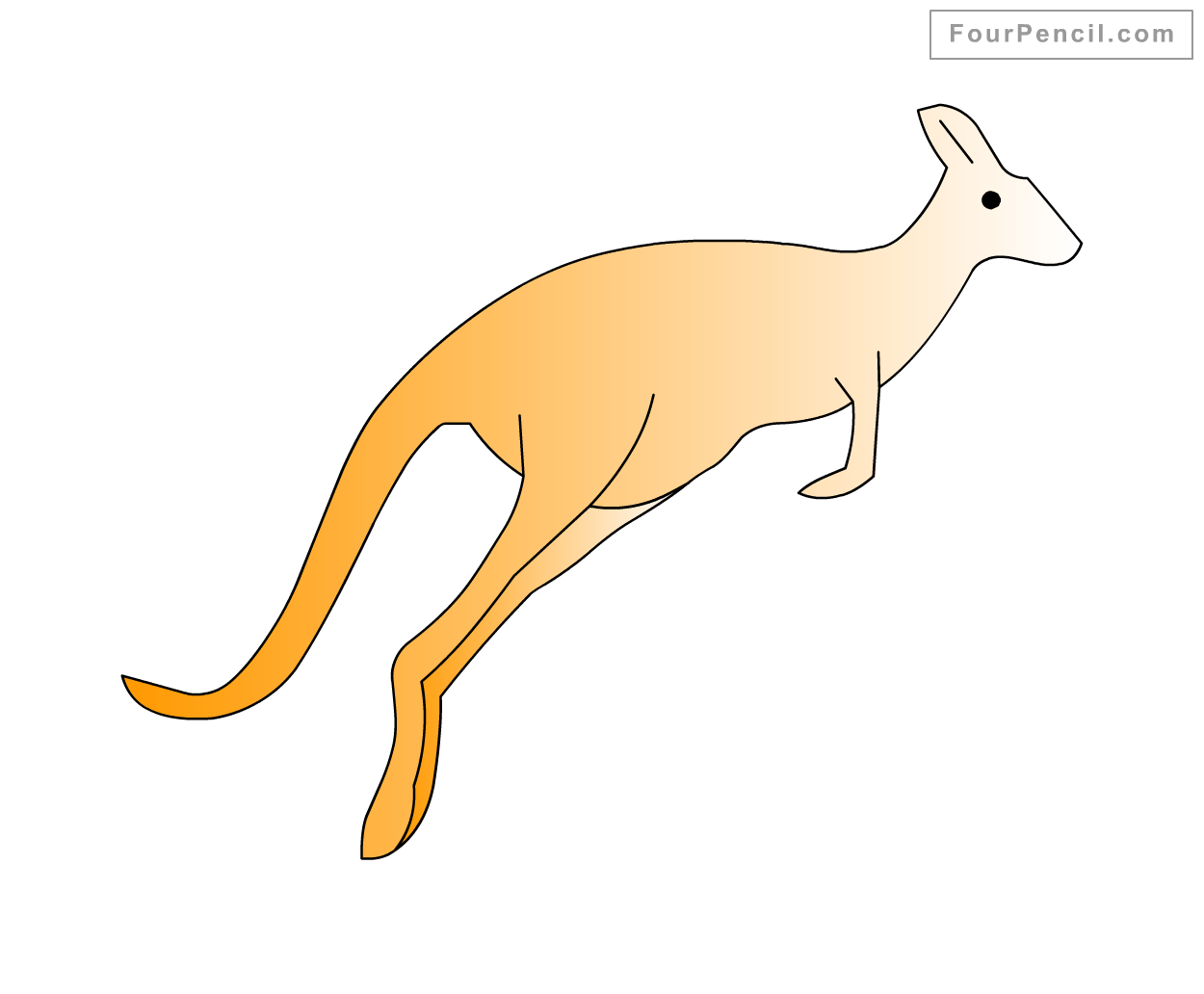 How To Draw Kangaroo For Kids Step By Step Drawing