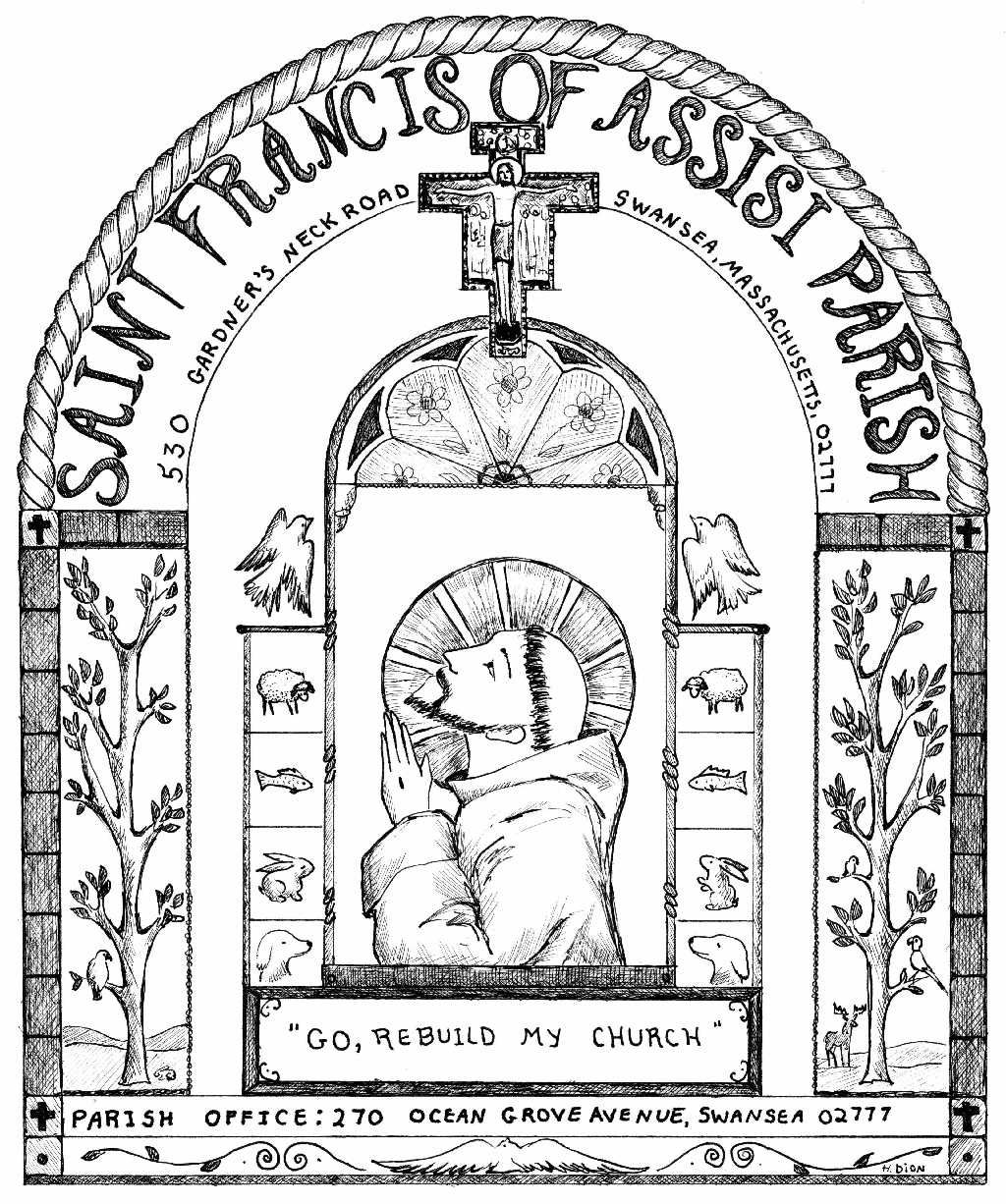St Francis Of Assisi Colouring Pages