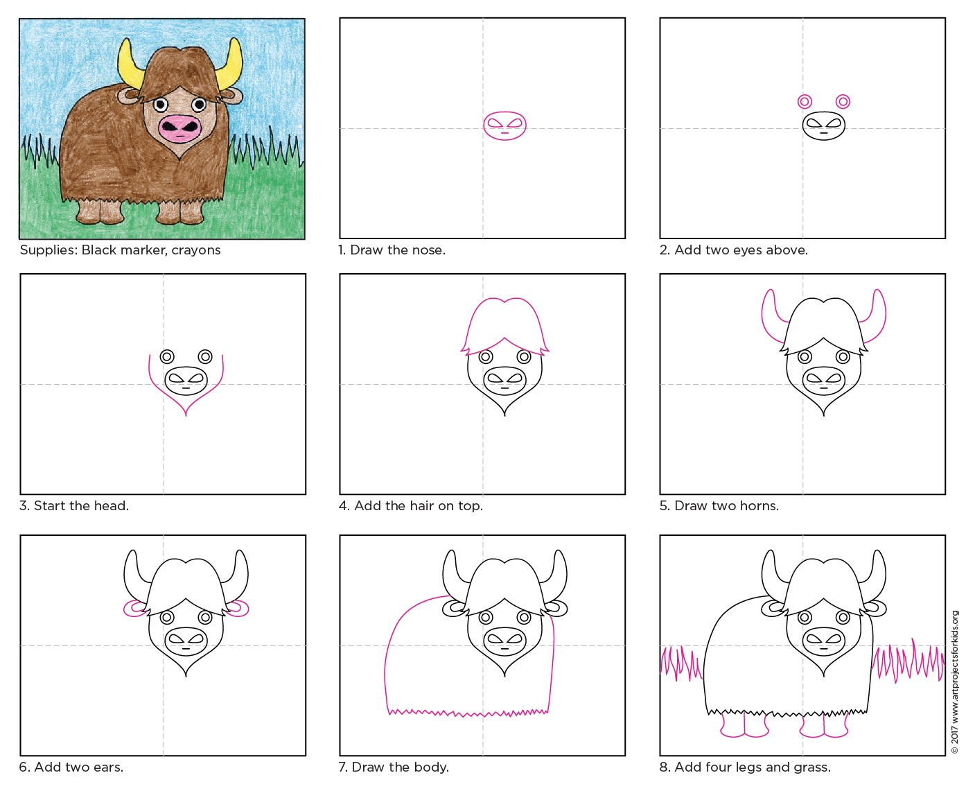 Draw A Water Buffalo A Art Projects For Kids Neo Coloring