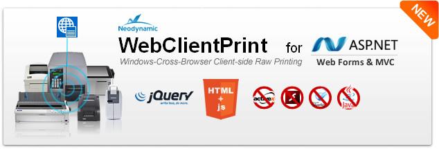 WebClientPrint for ASP.NET released!