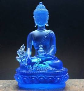 Liuli-Medicine-Buddha-figurige-Bhaisajya-Buddha-statue-Coloured