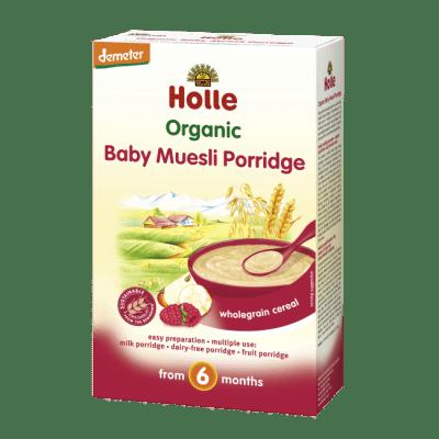 Holle Organic Baby Muesli Porridge wholegrain cereal