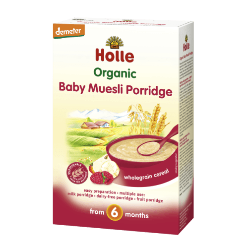 Holle Organic Baby Muesli Porridge wholegrain cereal
