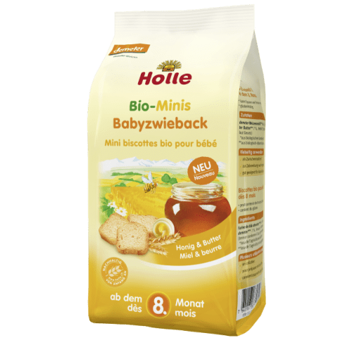 Holle Bio-Minis Baby Rusk. From 8 Months