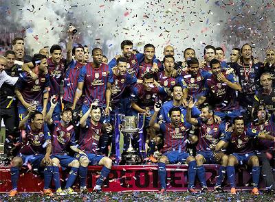 Imágenes Barcelona Campeón Copa del Rey 2012