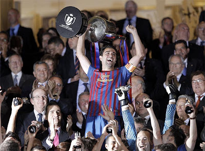 barcelona campeon copa del rey 2012 xavi