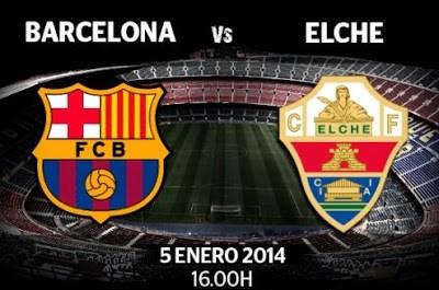 Barcelona vs. Elche 2014