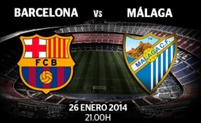 Barcelona vs Málaga 2014