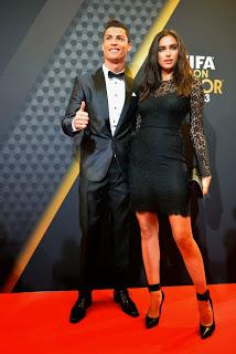 Cristiano Ronaldo y su novia Irina Shayk BALON DE ORO 2013