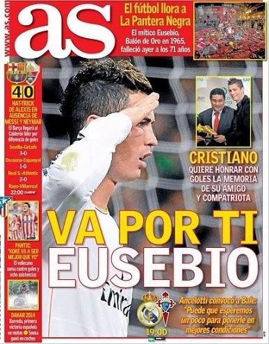 Portada periódico As 6/1/2014
