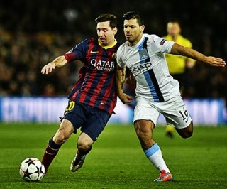 Barcelona 2-Manchester City 1-Champions League