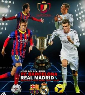 Alineación y la previa Barcelona-Real Madrid. Copa del Rey La Final