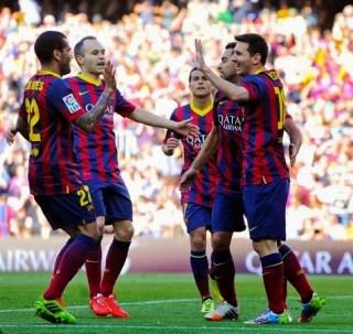 Barcelona 3-Betis 1. Jornada 32 Liga Española