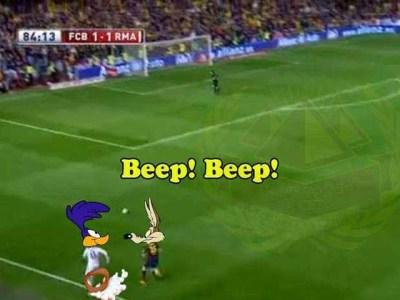 Las cargadas del Real Madrid-Barça-Copa del Rey Bartra Coyote-Bale Correcaminos