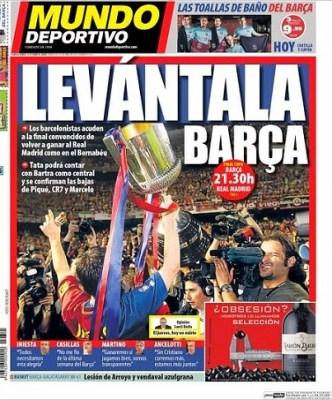 Portada Mundo Deportivo Final Copa del Rey 2014: Barcelona vs. Real Madrid