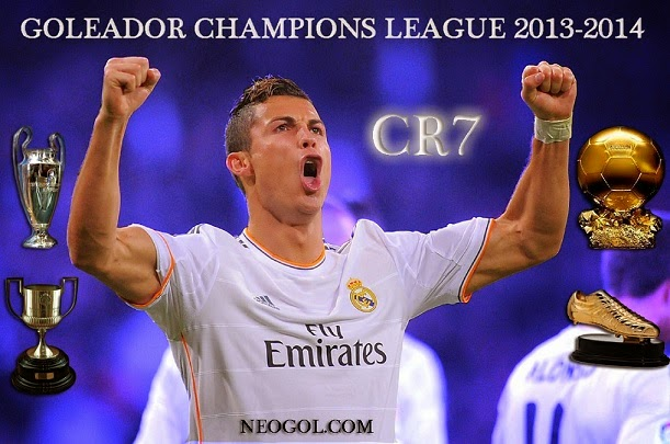 Cristiano Ronaldo Goleador Champions League 2014