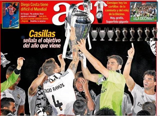 Portada As festejos Champions League 2014