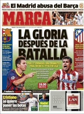 Portada diario Marca 17/05/2014