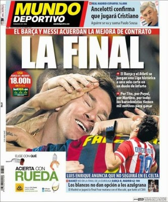 Portada diario Mundo Deportivo 17/05/2014