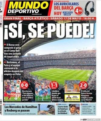 Portada Mundo Deportivo 12/05/2014