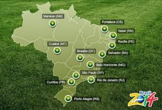 Estadios y sedes: Mundial Brasil 2014