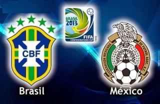 Alineación y la previa Brasil-México. Partido inaugural