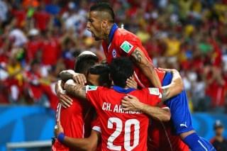 Chile 3-Australia 1. Mundial Brasil-Grupo B