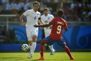 Costa Rica 0-Inglaterra 0. Mundial Brasil-Grupo D