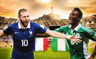 Alineación y la previa Francia-Nigeria. Octavos de final