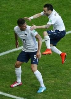 Suiza 2-Francia 5. Mundial Brasil-Grupo E
