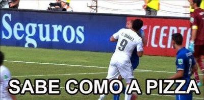 Los mejores chistes y memes de Italia-Uruguay: Mundial Brasil suarez muerde chiellini