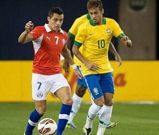 Alineación y la previa Brasil-Chile. Octavos de final mundial brasil 2014 brasil chile