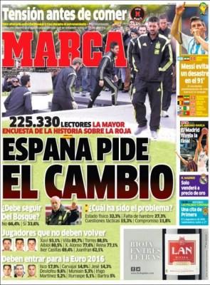 Portada Marca Mundial Brasil: España pide el cambio