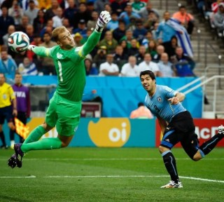 Uruguay 2-Inglaterra 1. Mundial Brasil-Grupo D
