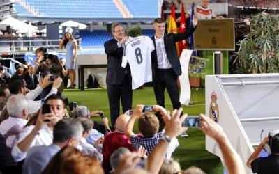 La presentación de Toni Kross en el Bernabéu real madrid