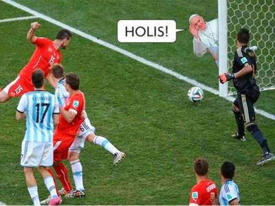 Los mejores chistes y memes del partido Argentina-Suiza: Mundial Brasil papa francisco palo