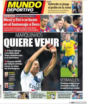 Portada Mundo Deportivo: fichajes Barcelona