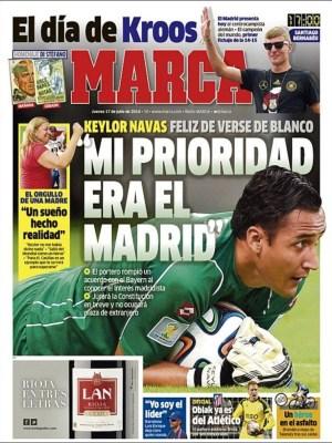 Portada Marca: psesentan a Toni Kross keylor navas