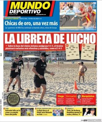 Portada Mundo Deportivo: pretemporada Barcelona 2014-2015