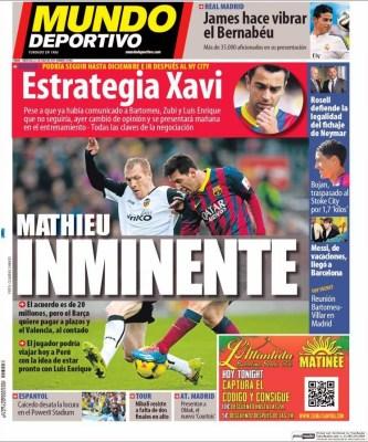 Portada Mundo Deportivo: Xavi se queda en el Barça