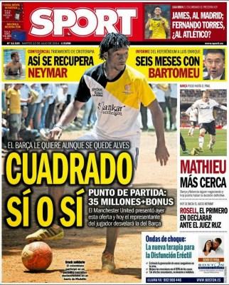 Portada Sport: Cuadrado