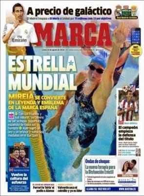 Portada Marca: Di María se va del Madrid y ficha por el Manchester United