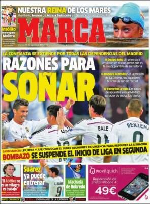 Portada Marca: el Real Madrid es favorito
