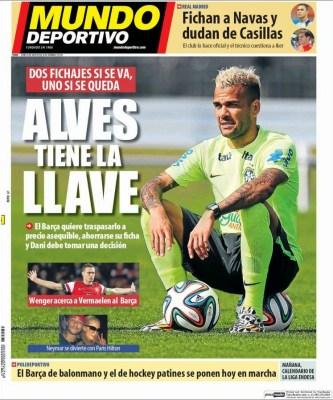 Portada Mundo Deportivo: Keylor Navas ficha por el Real Madrid