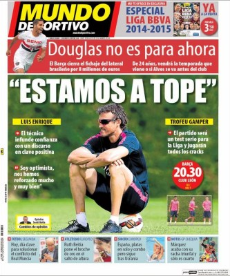 Portada Mundo Deportivo: Trofeo Joan Gamper